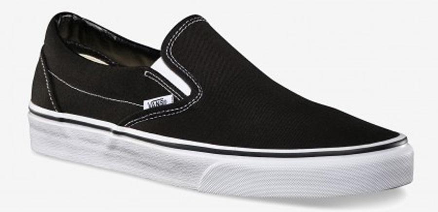 Vans Classic Slip-On Skate Shoes UK 7 Black/White