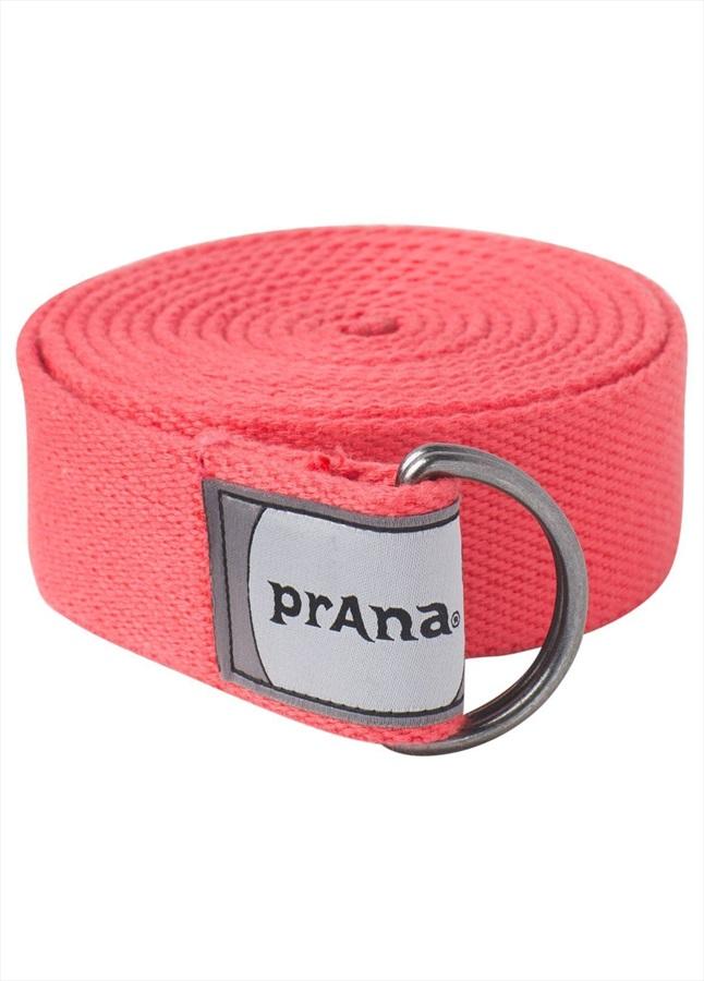 Prana Raja Yoga & Pilates Strap, 6 Ft Carmine Pink