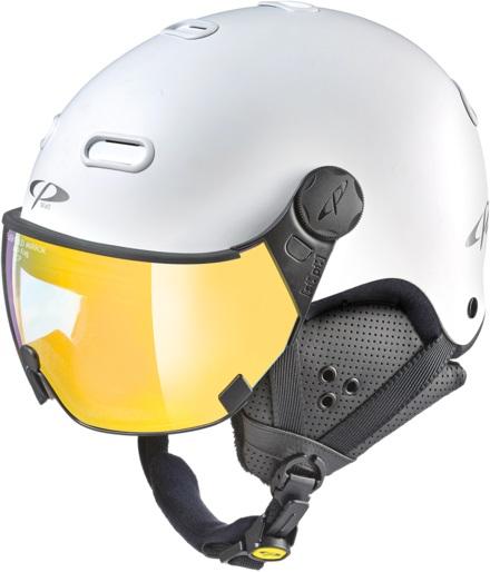 CP Carachillo Flash Gold Snowboard/Ski Visor Helmet, M White