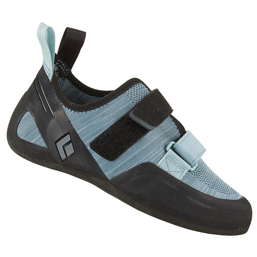 Black Diamond Momentum Velcro Rock Climbing Shoe - UK 7, Blue Ash
