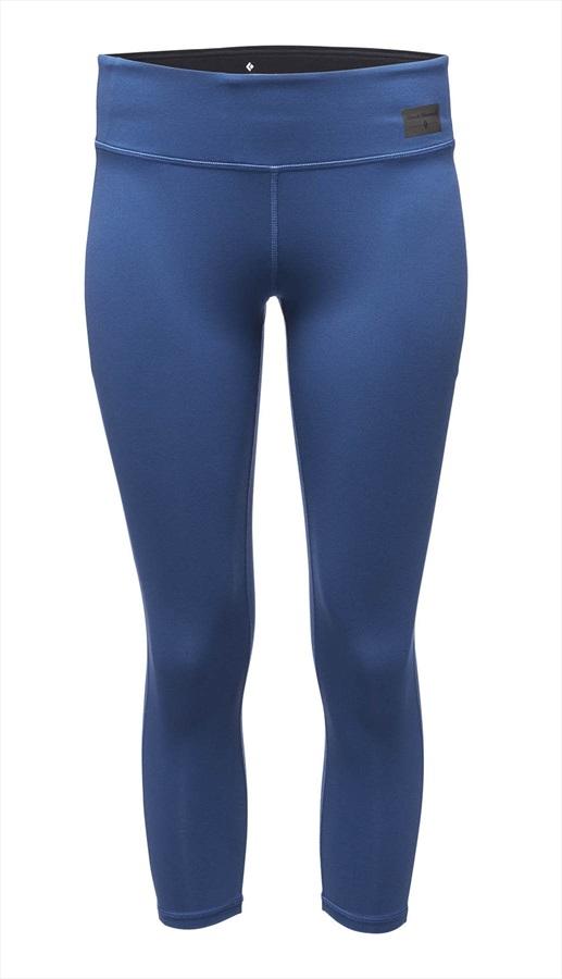 Black Diamond Levitation Capris Women's Leggings, S Ink Blue