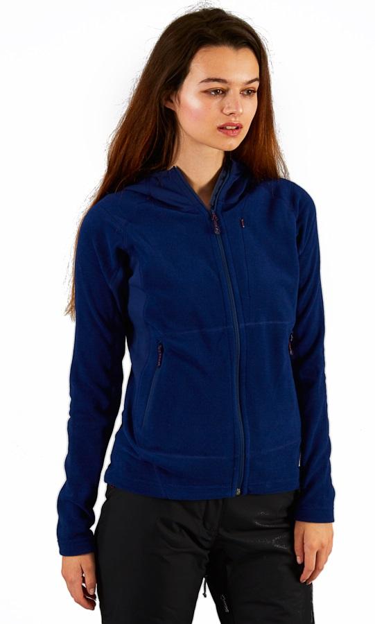 Montane Fury Full-Zip Quick Dry Women's Fleece Hoodie, XS Blue