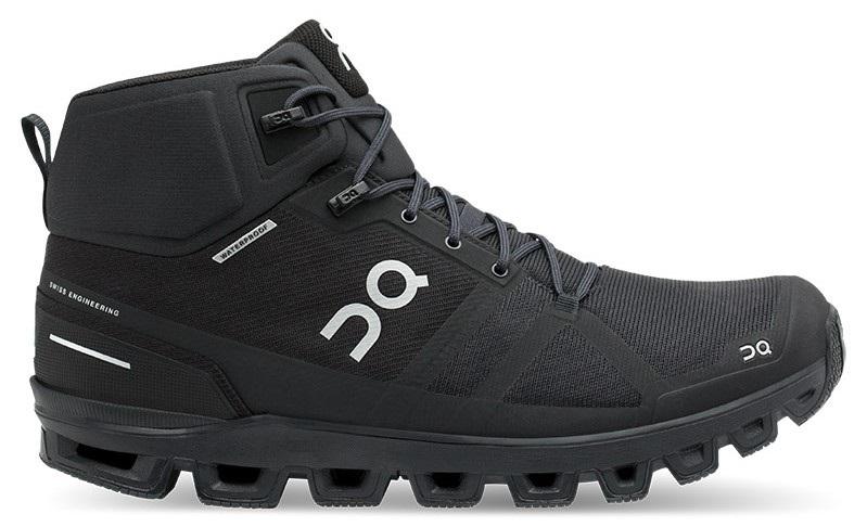 On Cloudrock Waterproof Men's Hiking Shoes, UK 7 Black