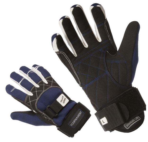 Straight Line Tournament Amara Water Ski Wakeboard Gloves, XXL Blue