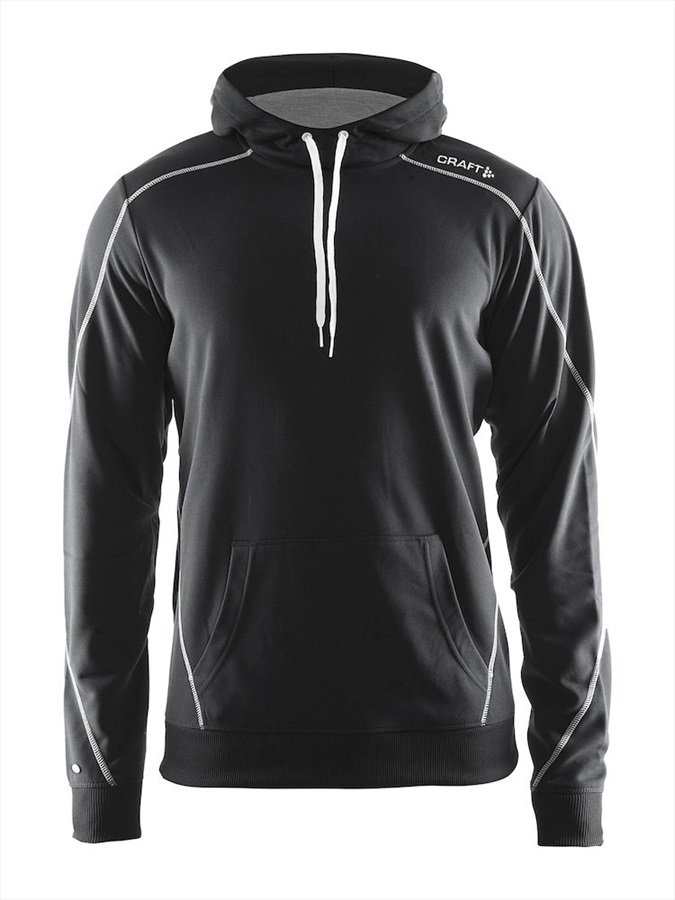 Craft Adult Unisex In The Zone Technical Pullover Hoodie, M Black