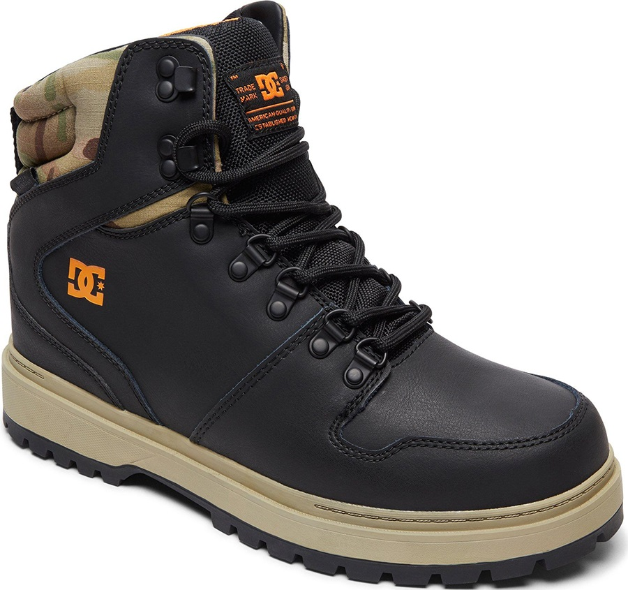 DC Peary Men's Winter Boots, UK 10.5 Black/Multi
