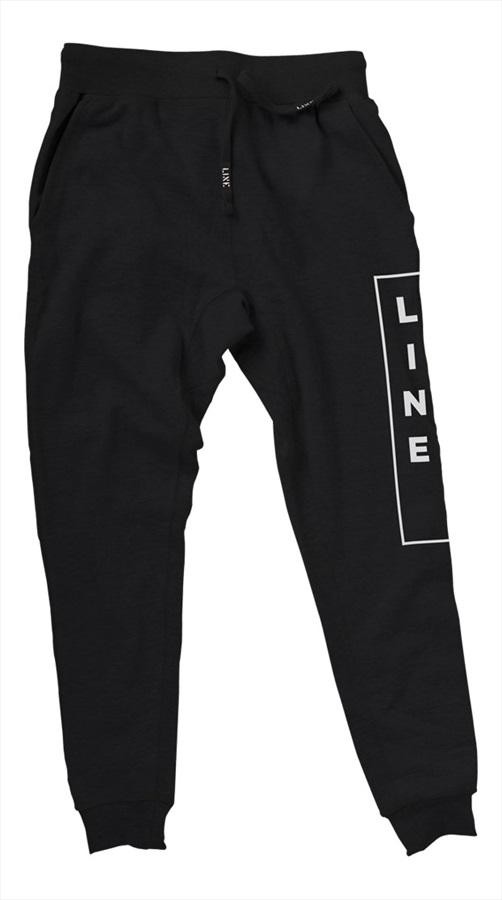 LINE Adult Unisex Yogger Sweat Pants, L Black