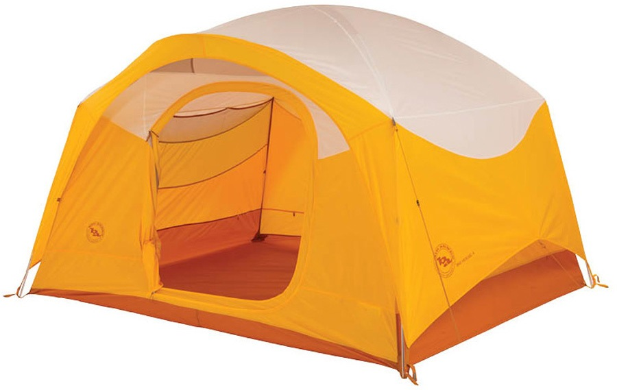 Big Agnes Big House 4 Tent Basecamp Shelter, 4 Man Gold/White
