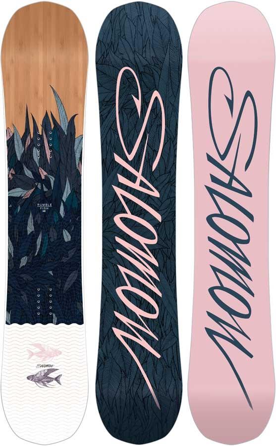 Salomon Rumble Fish Women's Hybrid Camber Snowboard, 144cm 2020