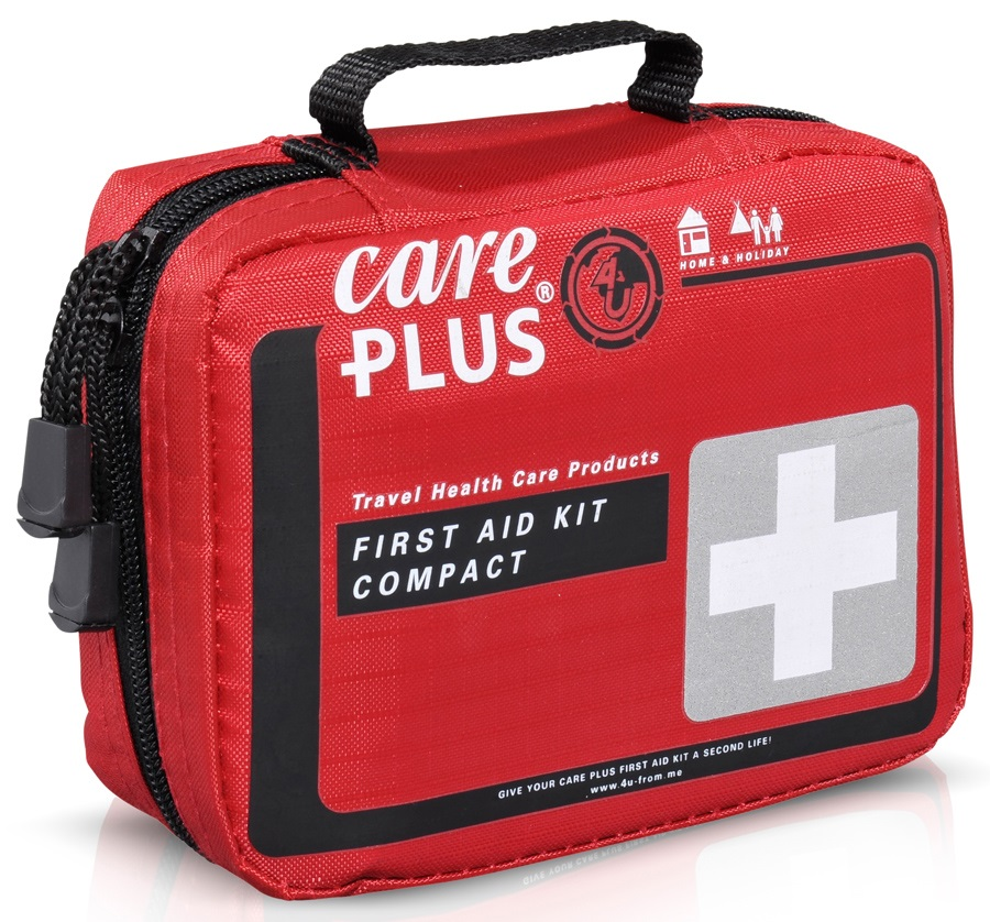 Care Plus Compact Travel First Aid Kit, 38 Pcs Red