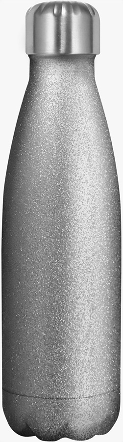 Myga Stainless Steel Water Bottle, 500ml Glitter Silver