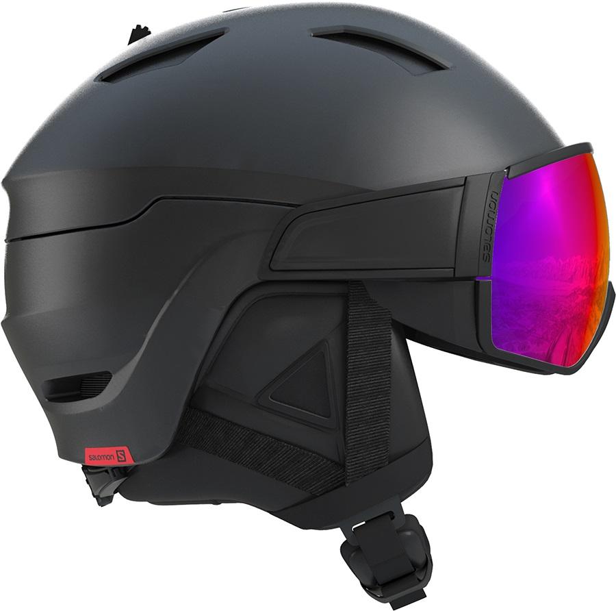 Salomon Driver Solar Red Ski/Snowboard Visor Helmet, L Black/Red