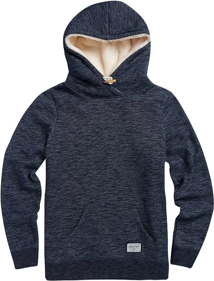 Animal Stitched Women's Hoodie, UK 10 Sky Captain Blue Marl