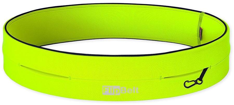 FlipBelt Classic Running Belt, L Nuclear Yellow