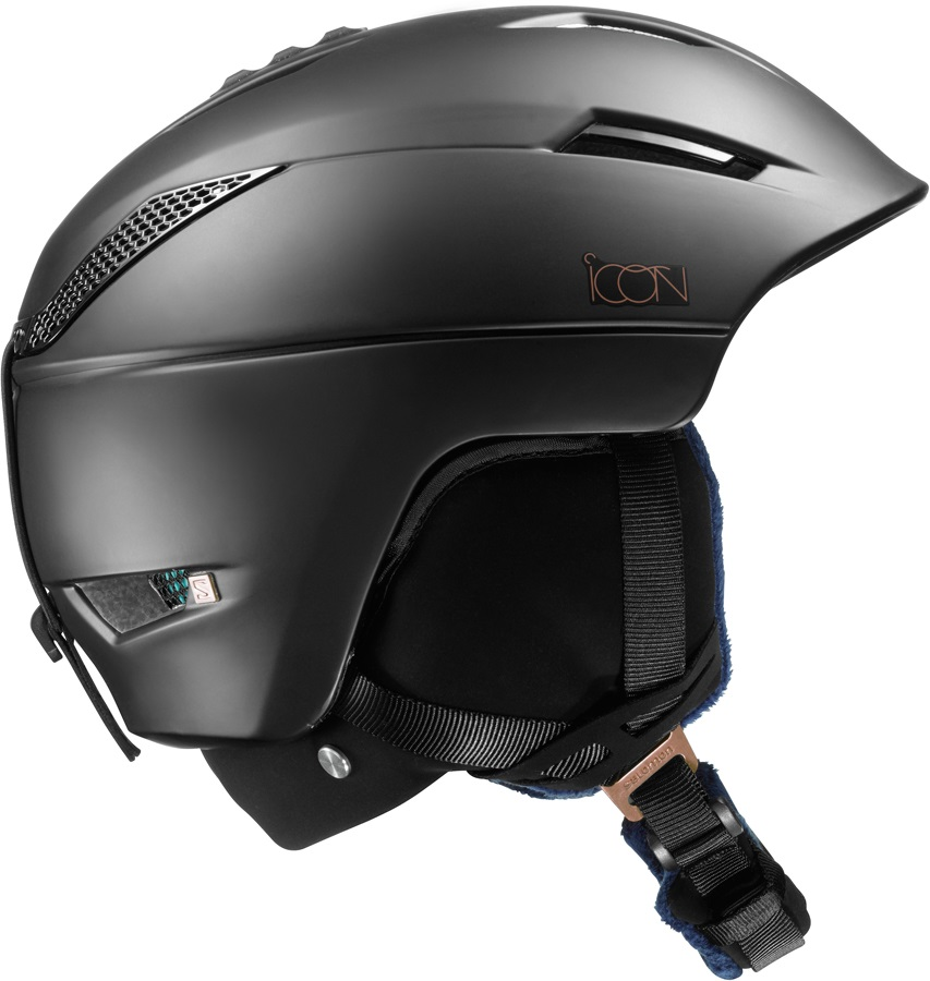 Salomon Icon2 C.Air Women's Snowboard/Ski Helmet, S, Black
