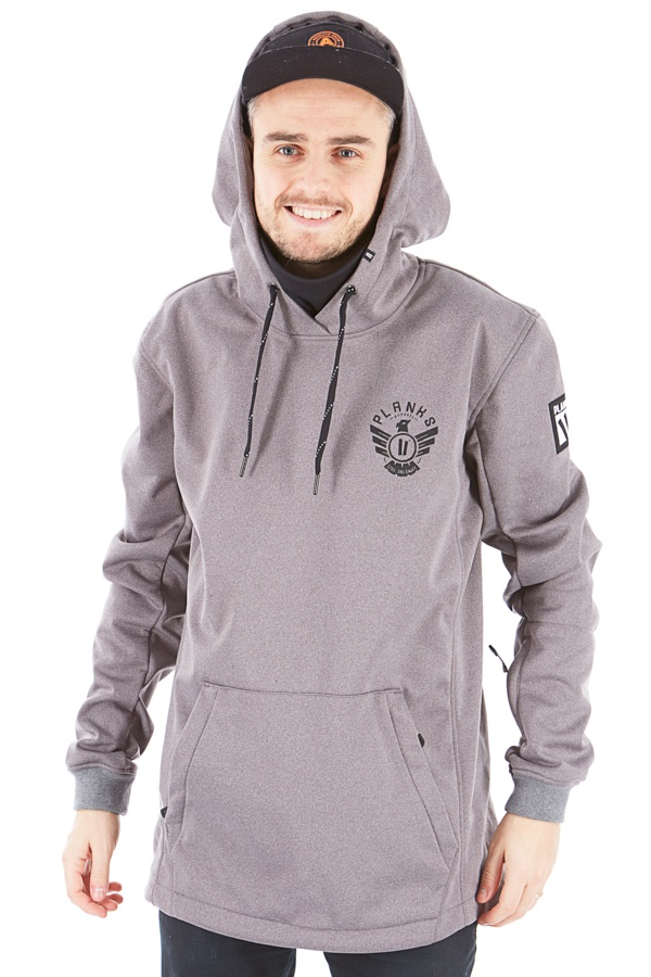 Planks Parkside Riding Hood Technical Hoodie, S Sports Grey