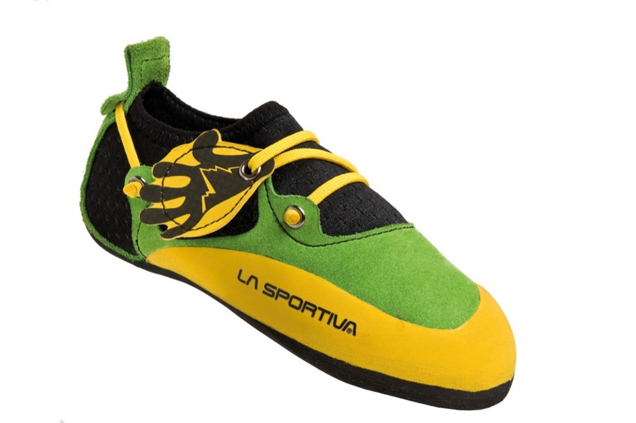 La Sportiva Stickit Kids Rock Climbing Shoe UK 11-12 Yellow/Green