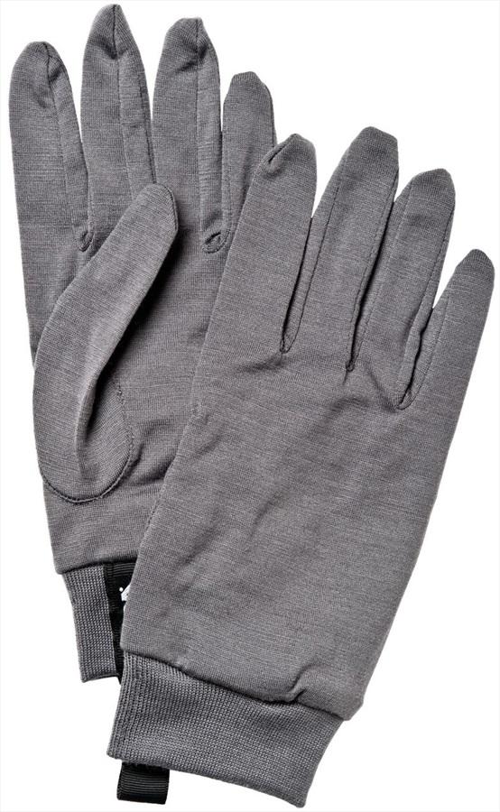 Hestra Merino Wool Ski/Snowboard Liner Gloves, S, Dark Grey