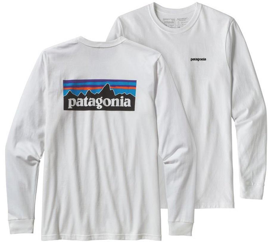 Patagonia P-6 Logo Responsibili-tee Long Sleeve T-Shirt M White