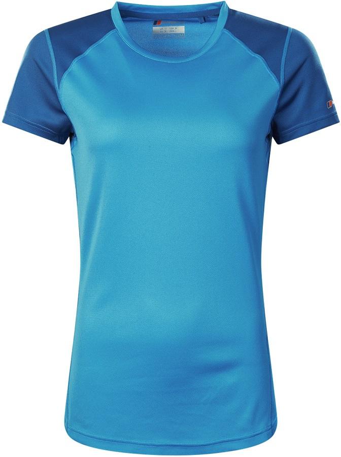 Berghaus Tech Tee 2.0 Women's Short Sleeve T-Shirt, UK 12 Galaxy Blue