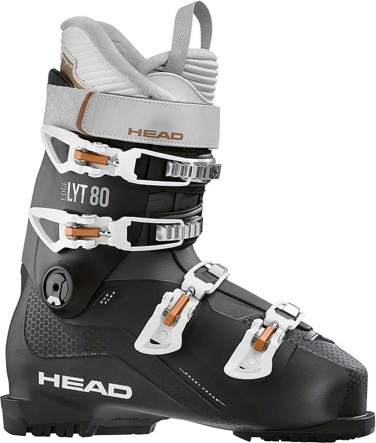 Head Edge LYT 80 Women's Ski Boots, 27/27.5 Black/Copper 2020