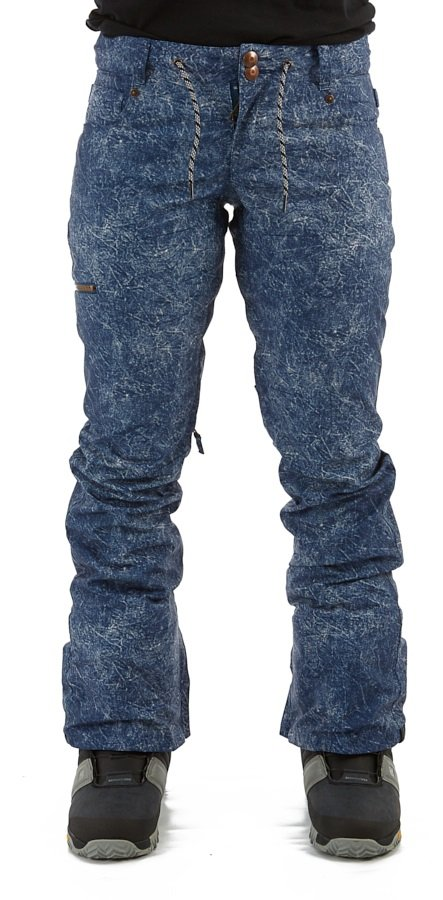 DC Viva Pants Women's Ski/Snowboard Trousers, S Blue Acid Wash Denim