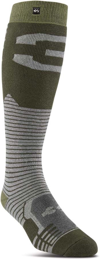 thirtytwo Adult Unisex Performance ASI Snowboard/Ski Socks Military