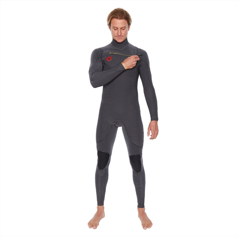 Body Glove Red Cell 4/3 Slant Zip Full Surfing Wetsuit, M Jet Black
