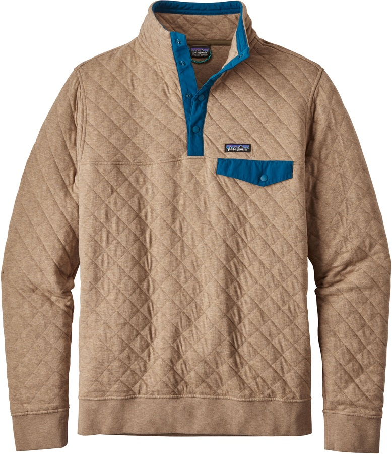 Patagonia Cotton Quilt Snap-T P/O Men's Fleece Pullover, XL Khaki
