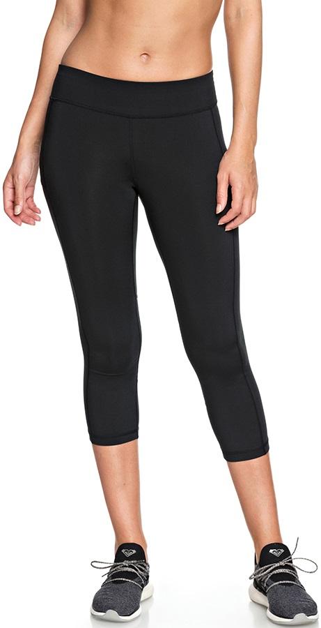 Roxy Spy Game Capri 2 Women's Active Running Leggings, L Black