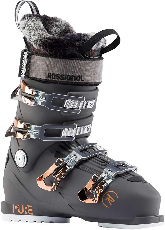 Rossignol Pure Pro 100 Women's Ski Boots, 25/25.5 Graphite 2020