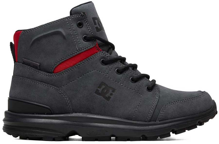 DC Torstein Men's Winter Boots UK 7.5 Grey/Black/Red