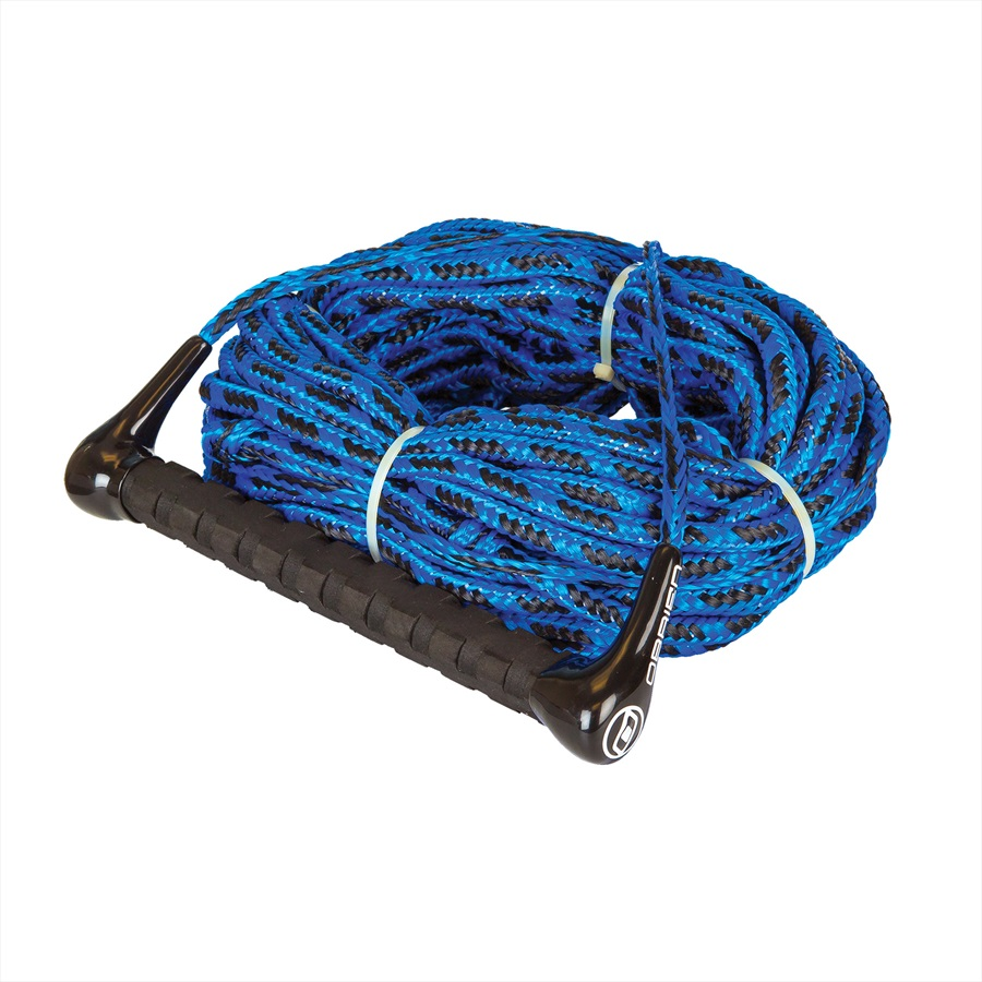 O'Brien Handle Floating Rope Combo Ski / Wake, 2 Section Blue Black