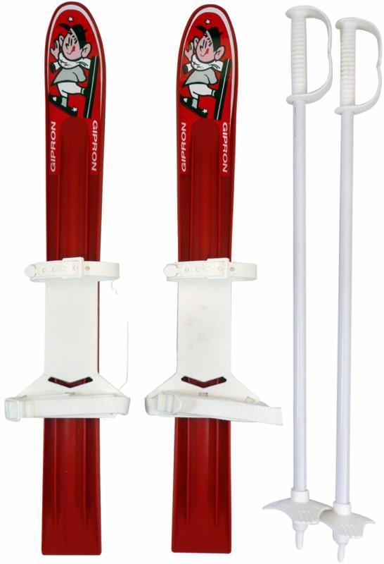 Manbi Gipron Mini Kids Toy Plastic Skis, 70cm, Red