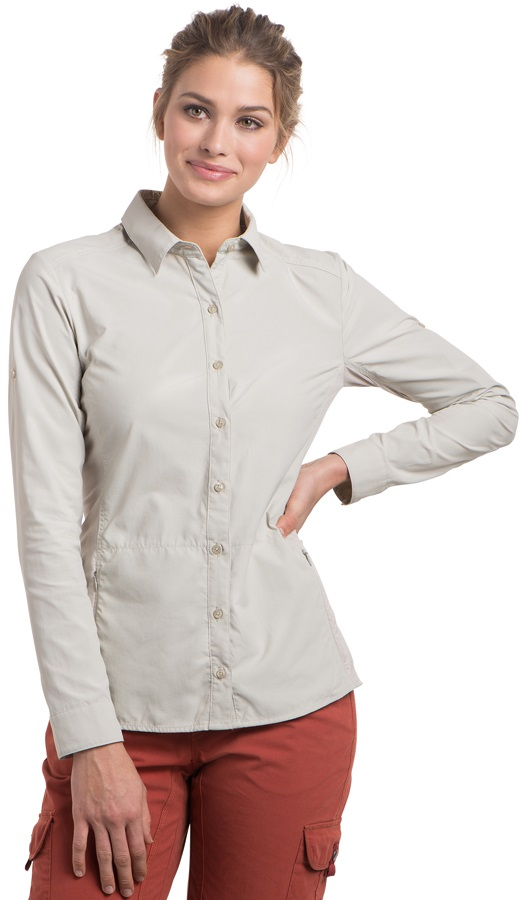 Kuhl Invoke Women's Long Sleeve Shirt, UK 16-18 Sand Dune