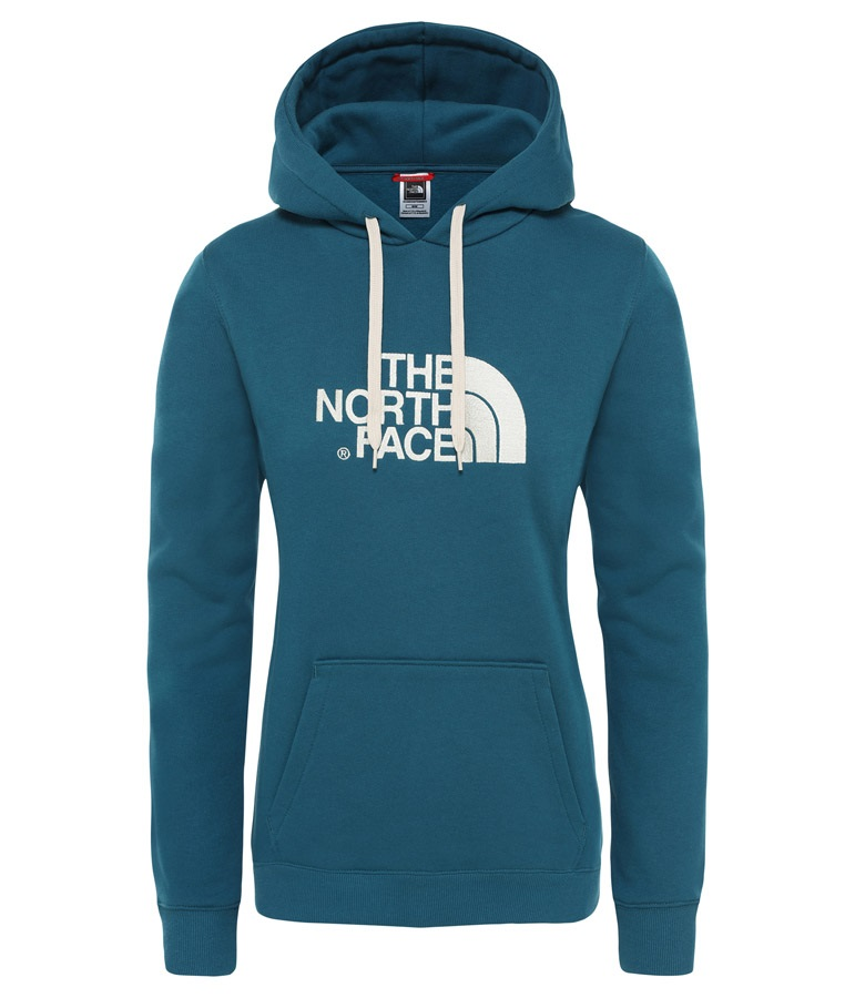 The North Face Drew Peak Pullover Women's Hoodie, S Blue Coral/White
