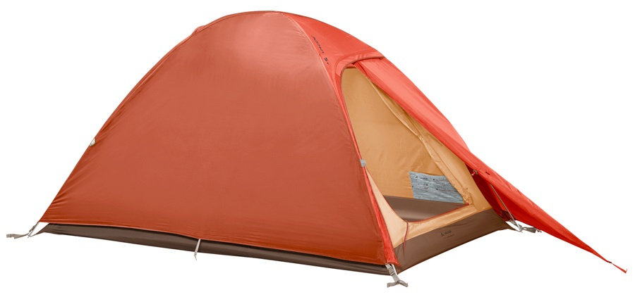 Vaude Campo Compact Lightweight Backpacking Tent, 2 Man Terracotta