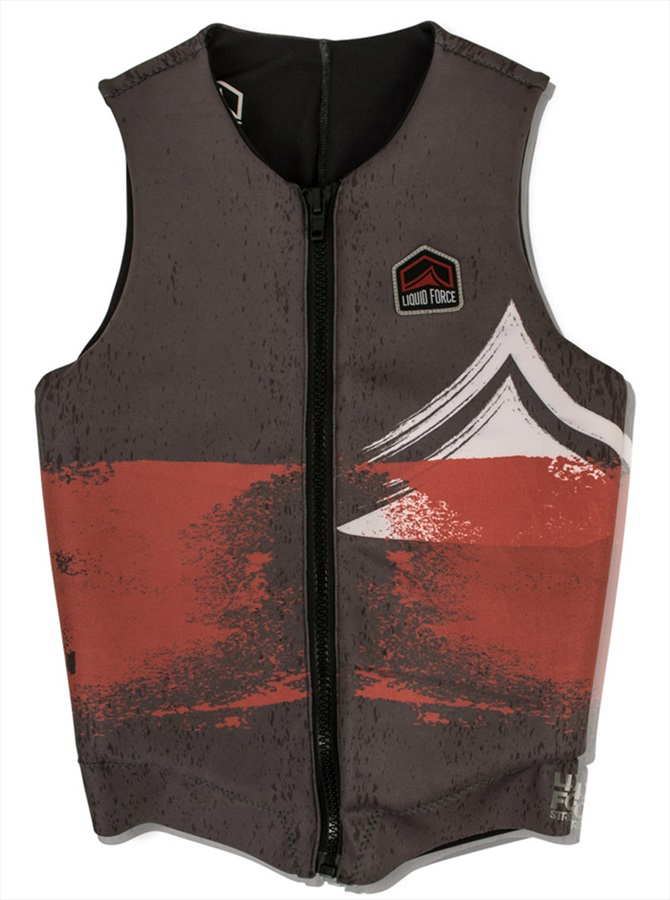 Liquid Force Enigma Comp Impact Vest, M Grey Rust