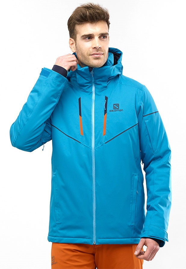 Salomon Stormrace SkiSnowboard Jacket, L Fjord Blue