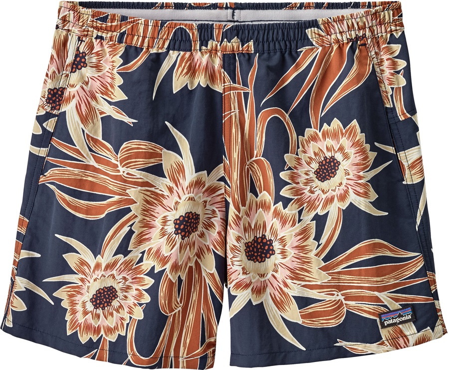 Patagonia Women's Baggies Board Swim Shorts, UK 10 Cereus Flower Navy