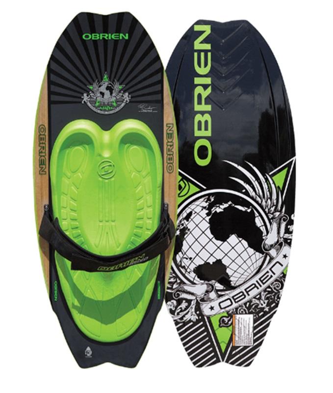 O'Brien Sozo Pro Series Kneeboard, Green Grey