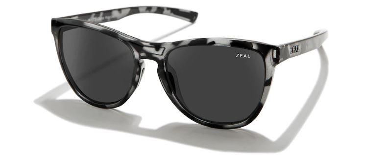 Zeal Bennett Dark Grey Sunglasses, Slate Tortoise