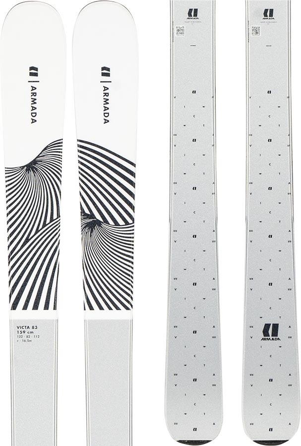 Armada Womens Victa 83 Ski Only Women's Skis, 167cm White 2020