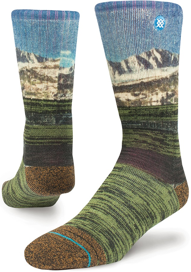 Stance Little Lakes Outdoor Walking/Hiking Socks, M Olive