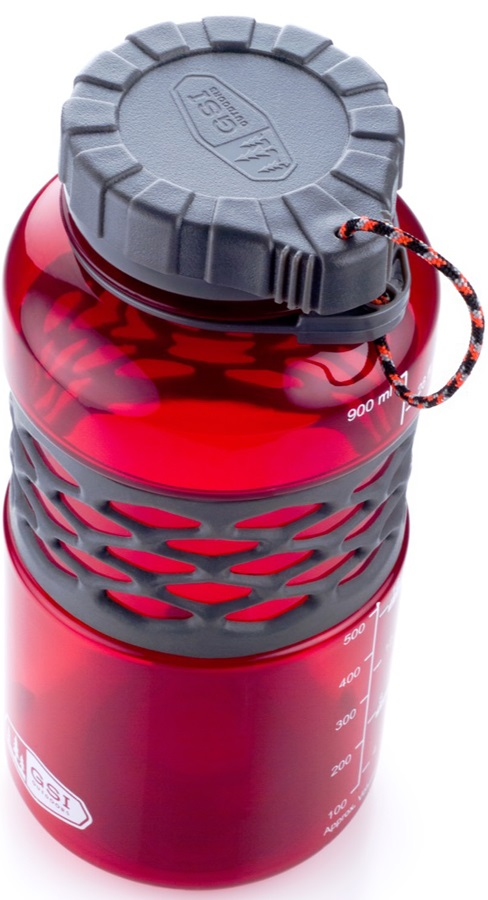 GSI Outdoors Infinity Duk Jug BPA-free Water Bottle, 1 Litre, Red