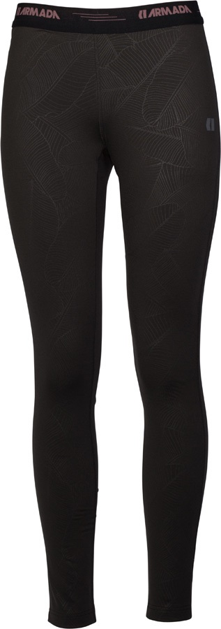 Armada Haven Womens Base Layer Bottoms, S Black Banana Leaf