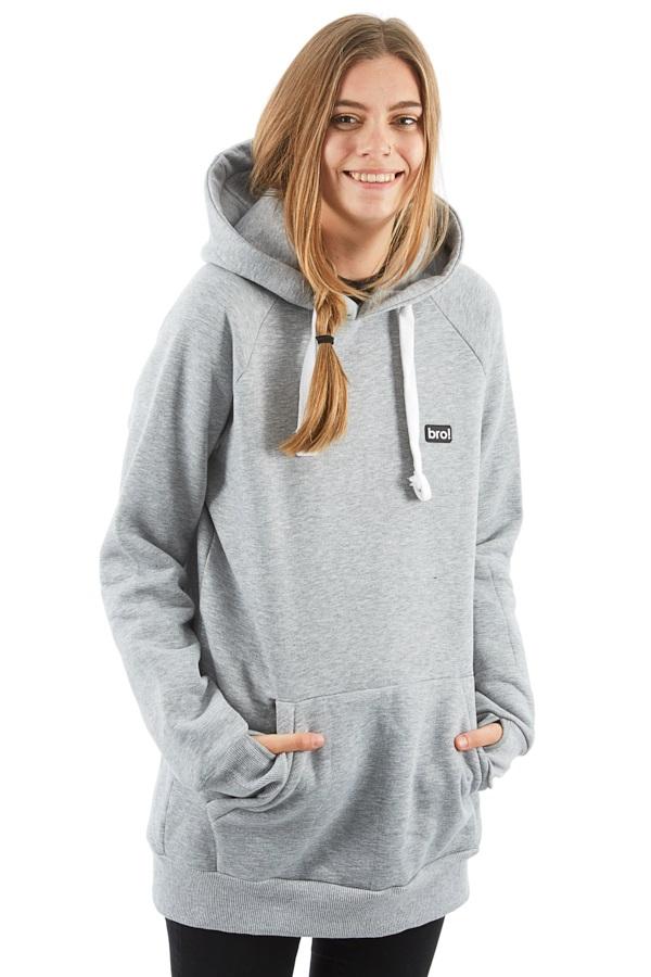 bro! Park Edition Ski/Snowboard Hoodie, L Grey