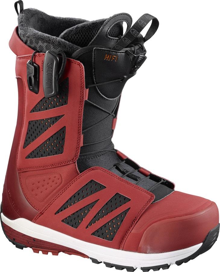 7bb2bcd57f Salomon Hi Fi Mens Snowboard Boot, UK 7, Red/Black/White, 2017