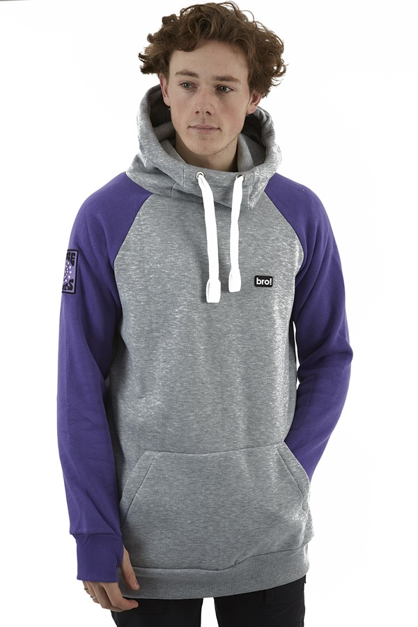 bro! Chill N'shred MTN Collection Ski/Snowboard Hoodie, XL Face Shots