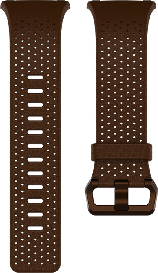 FitBit Ionic Leather Band Replacement Strap, Large Cognac
